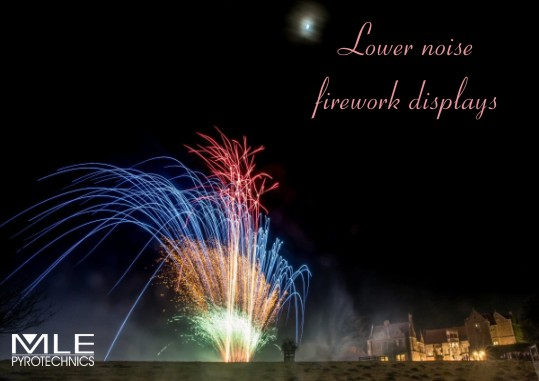 Lower noise firework displays set to music.